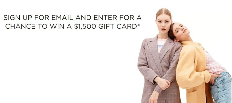 Saks Fifth Avenue May Email Sweepstakes – Win $1500 Gift Card