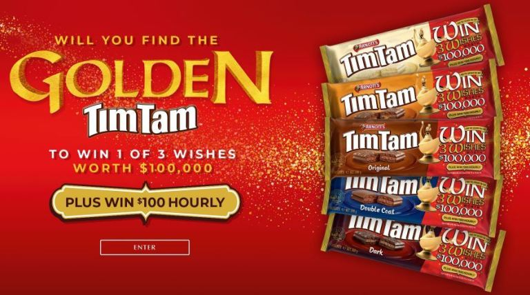 Tim Tam 3 Wishes Competition - Win $100,000