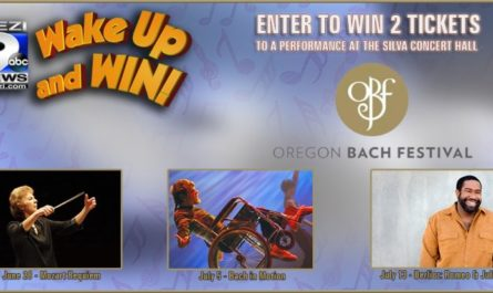 Kezi Wake Up and Win Oregon Bach Festival Sweepstakes – Win A Pair Of Tickets