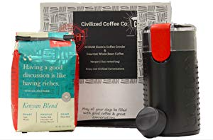 Coffee Sampler Gift Box Electric Coffee Grinder Kenyan Whole Bean Coffee &amp Giveaway