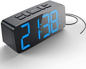 HAPTIME Digital Alarm Clock with FM Radio Dual