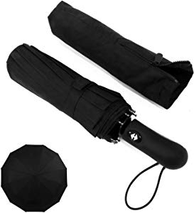 LEAGERA Windproof Compact Travel Umbrella – 12Ribs Fiberglass&amp Sweepstakes