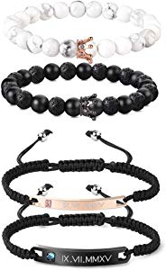 Udalyn 4 Pcs Lava Bead Bracelets for Women Men 8MM… Sweepstakes