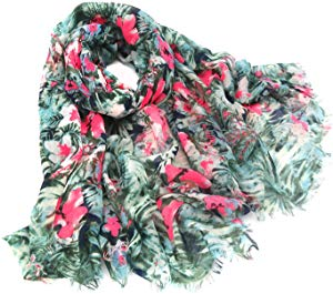 Women scarf Fashion flowers print Lightweight Beach… Sweepstakes