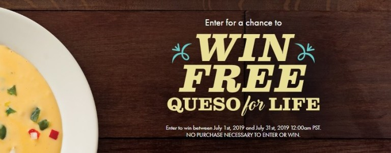 Abuelos Queso For Life Sweepstakes 2019 - Win Prize