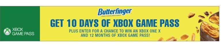 Butterfinger Xbox GamePass Sweepstakes