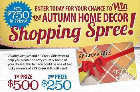 Country Sampler 2019 Autumn Home Decor Giveaway