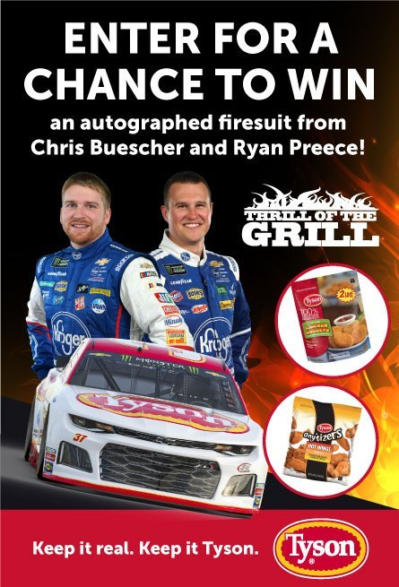 JTG Daugherty Racing Tyson Foods Sweepstakes – Win Cash Prize