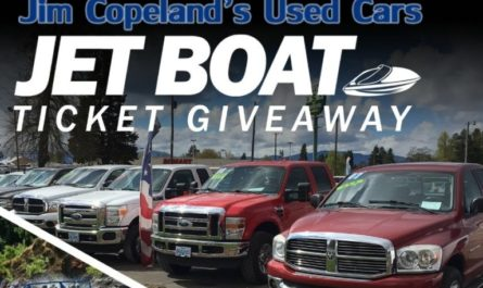 Jim Copeland's Used Cars Jet Boat Ticket Giveaway