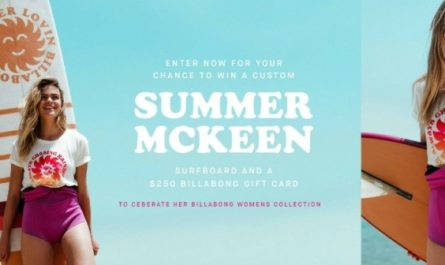 Summer Mckeen's Billabong Women's Surfboard Sweepstakes