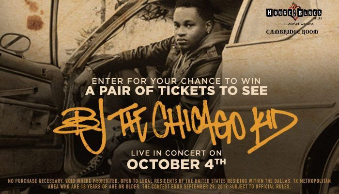 The Beat BJ the Chicago Kid Contest – Win Tickets