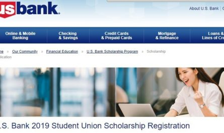 U.S. Bank Student Union Scholarship Sweepstakes