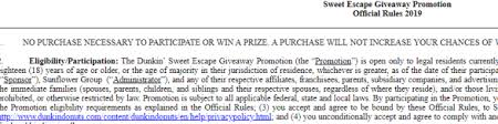 The Dunkin Sweet Escape Sweepstakes