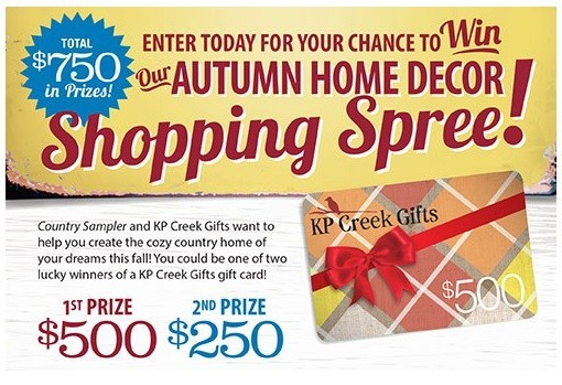 Autumn Home Decor Shopping Spree Giveaway – Win Gift Card