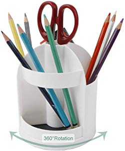 Functional 7 Compartments Rotating Pen Pencil Holder… Giveaway