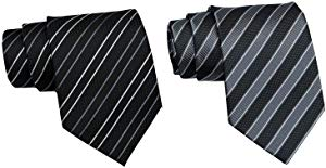 JKWES Men's Necktie Polyester Silk Tie Woven Jacquard Giveaway
