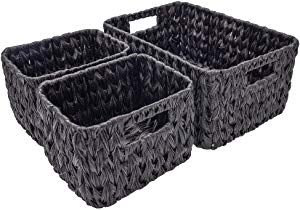 StorageWorks Set of 3 Hand Woven Resin Storage Basket Sweepstakes