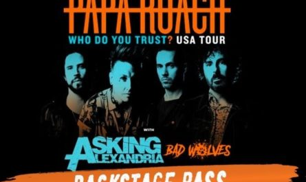 Backstage Pass To Papa Roach Contest