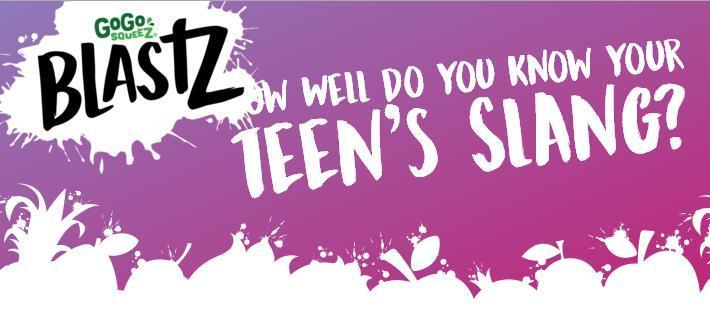 GoGo SqueeZ BlastZ Teen Slang Giveaway