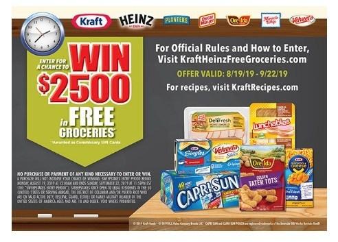 Kraft Heinz Free Grocery Giveaway
