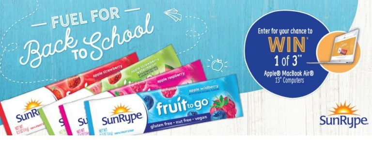 Sun Rype Fuel For School Back To School Sweepstakes – Win Gift Card