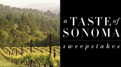 Frontgate Sonoma Getaway Sweepstakes