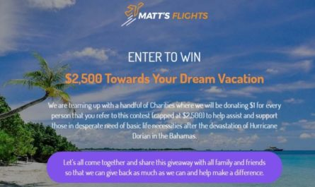 Matt Flights Dream Vacation Giveaway