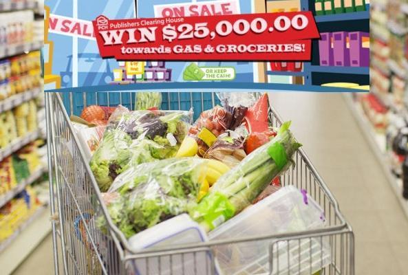 PCH.Com $25000 Gas Groceries Giveaway – Win $25000 Grand Prize