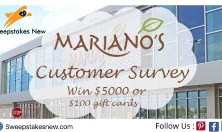 Mariano's Experience Customer Survey Sweepstakes