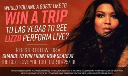 The Lizzo Vegas Flyaway Sweepstakes
