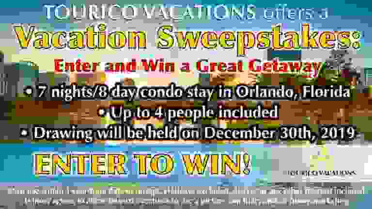 Tourico Vacations Getaway Sweepstakes