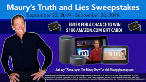 Maury Show Truth and Lies Sweepstakes