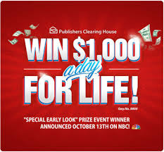 PCH $1000 a Day for Life Sweepstakes