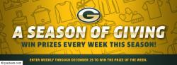 Packers Season of Giving Sweepstakes