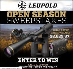 MidwayUSA Leupold Open Season Sweepstakes