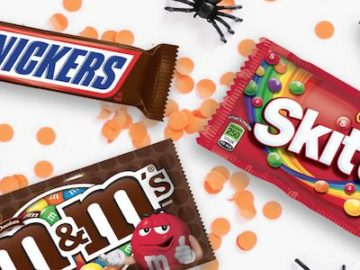 Win a Box of Halloween Candy Snickers and M&Ms & Skittles