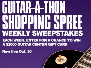 Guitar Center Guitar-a-Thon Shopping Spree Weekly Sweepstakes