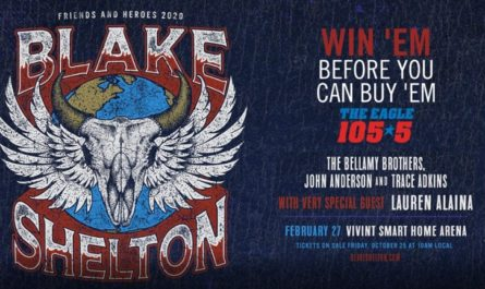 Blake Shelton Friends And Heroes 2020 Tour Sweepstakes