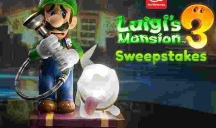 My Nintendo Luigis Mansion 3 Sweepstakes