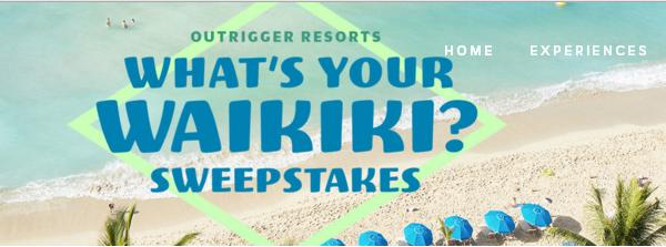 Outrigger Whats Your Waikiki Sweepstakes