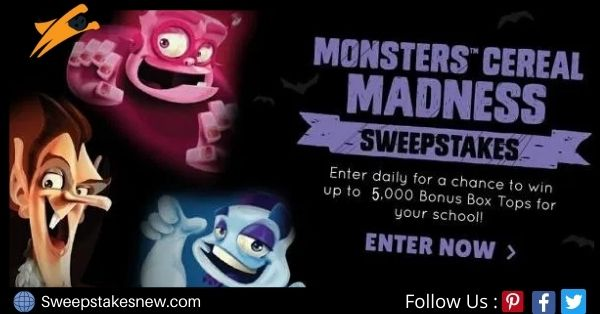 Box Tops 4 Education Monsters Cereal Sweepstakes