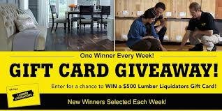 Lumber Liquidators Weekly $500 Gift Card Sweepstakes