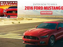 Ford Motor craft Mustang 5.0 Fever Sweepstakes