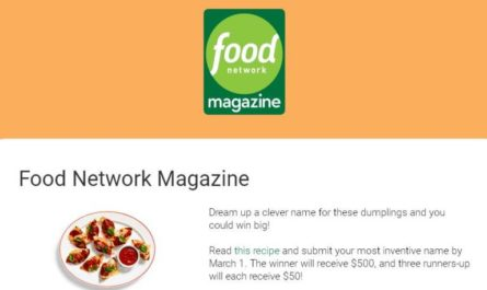 Food Network Magazine Name This Dish Contest