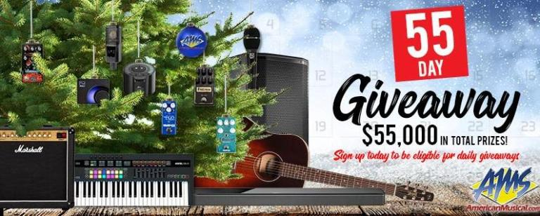 American Musical Supply 55 Day Giveaway