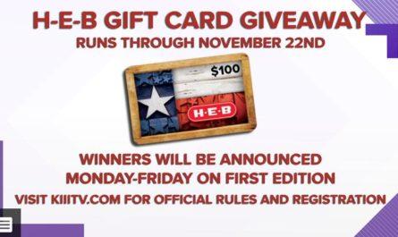 H-E-B $100 Gift card Giveaway