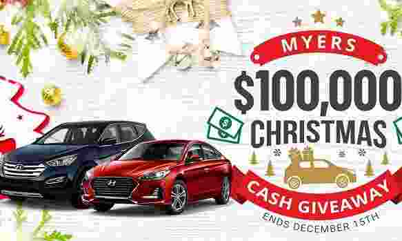 Myers $100000 Christmas Cash Giveaway