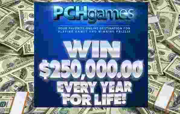 PCH Win $250000 A Year For Life Sweepstakes