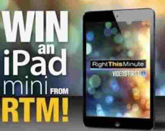 Right This Minute Win An iPad Giveaway