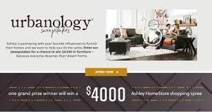 Ashley Furniture Urbanology Sweepstakes